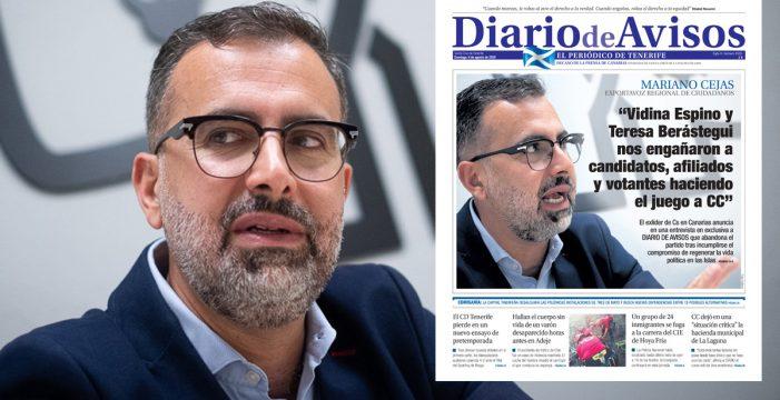 Gran repercusión de la entrevista en exclusiva de Mariano Cejas al DIARIO