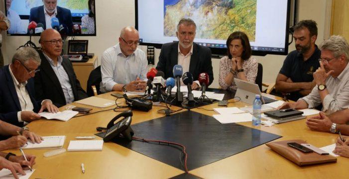 Pedro Sánchez conocerá mañana en Gran Canaria la evolución del incendio, que quedará estabilizado