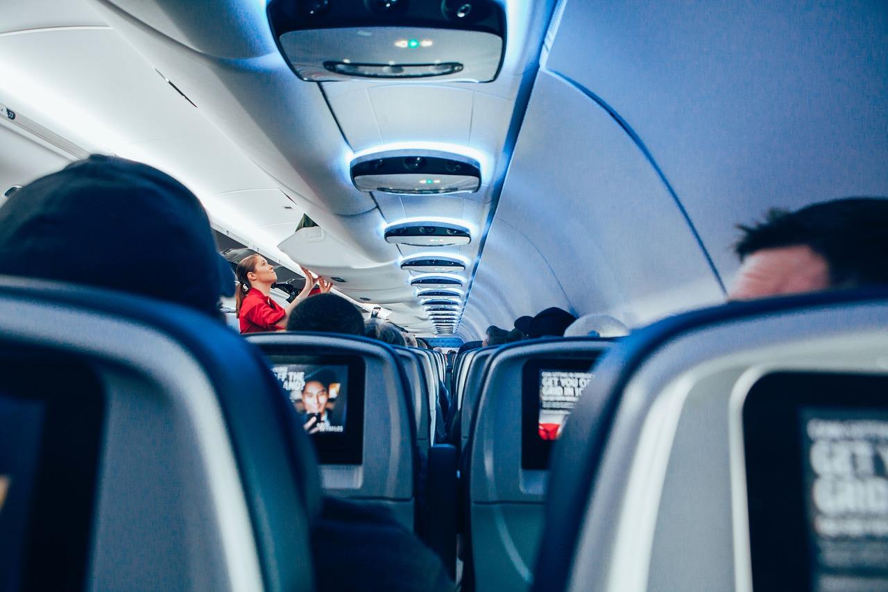 Azafata de avión. Pixabay