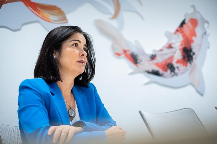 Carolina Darias, consejera de Economía, Conocimiento y Empleo. / FRAN PALLERO