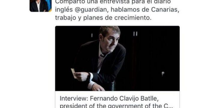 La entrevista con Clavijo en 'The Guardian' también ha sido borrada