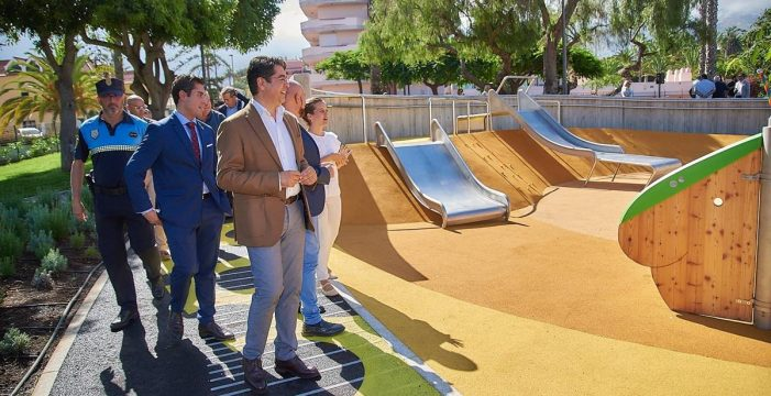 El Puerto de la Cruz inaugura en La Paz el primer parque inclusivo de Canarias