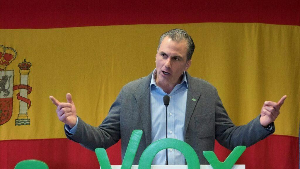 Ortega Smith durante un acto de campaña EL ESPAÑOL