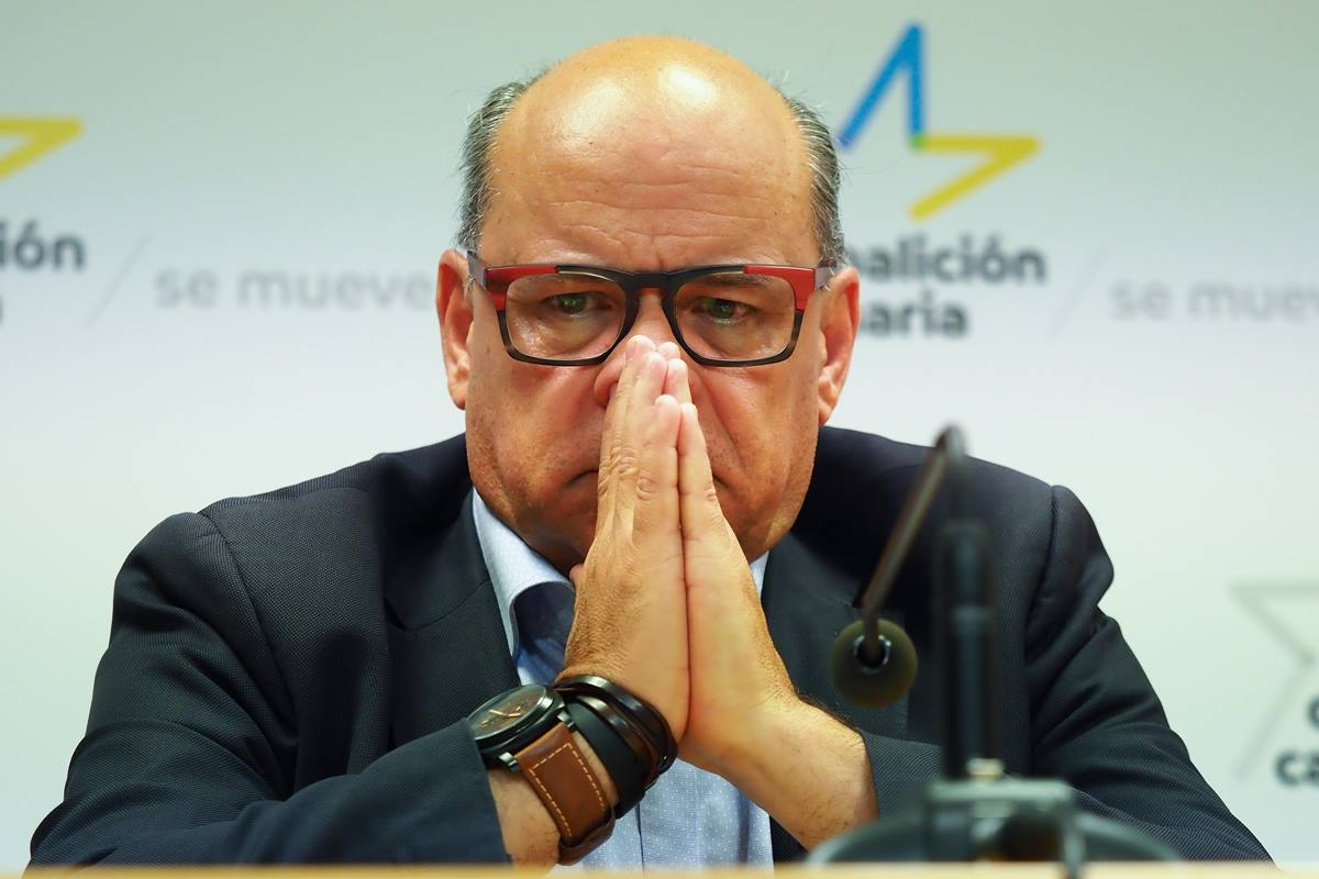 El secretario general de Coalición       Canaria, José Miguel Barragán. Sergio Méndez