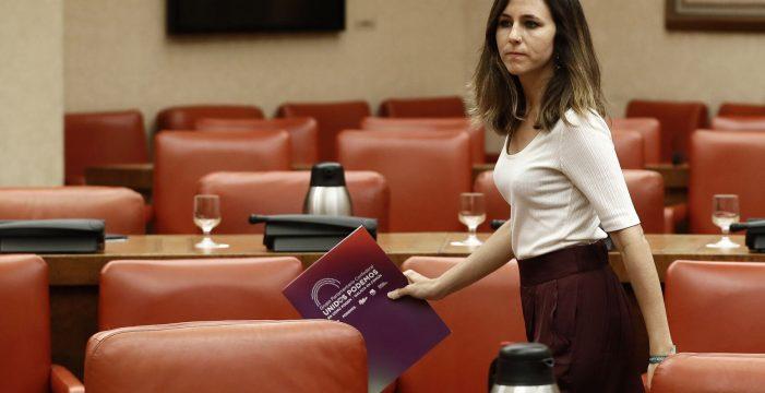 """Unidas Podemos, """"preocupados"""" por las """"posiciones inamovibles"""" del PSOE"""