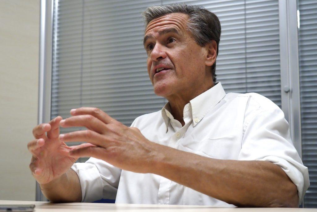 Juan Fernando López Aguilar durante su entrevista en DIARIO DE AVISOS| SERGIO MÉNDEZ