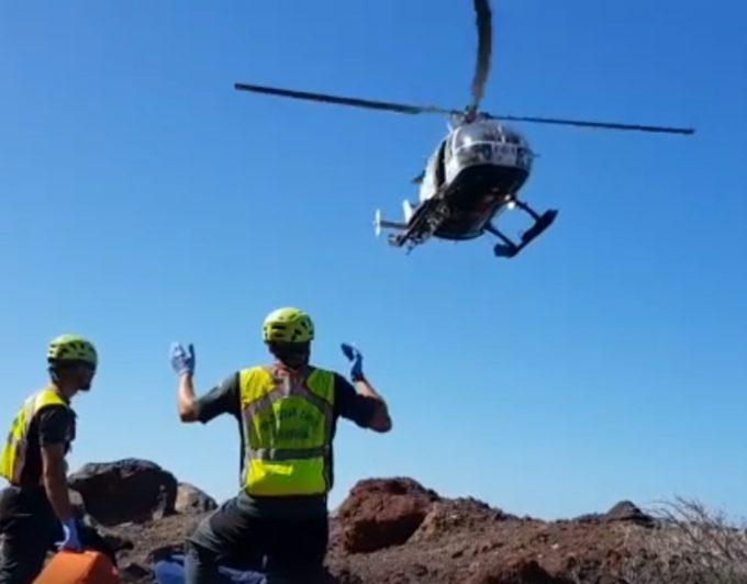Rescatan un cadáver en un barranco de La Gomera