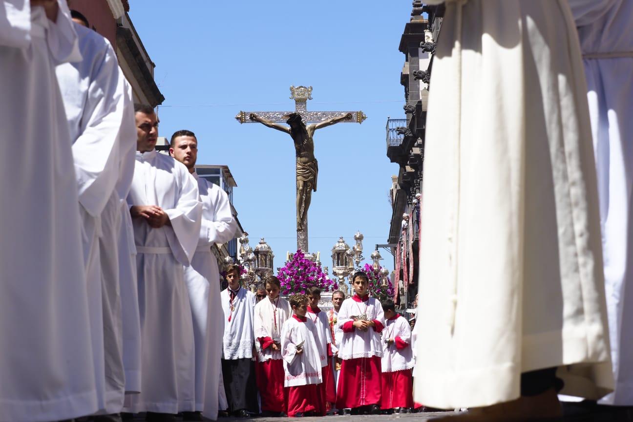 El día grande las Fiestas del Cristo de La Laguna arrancó esta mañana. | FOTO: Sergio Méndez