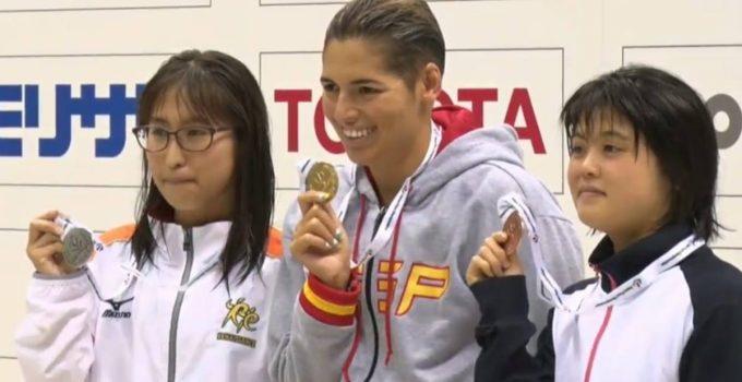 La 'sirenita' Michelle Alonso logra su primer oro en Yokohama