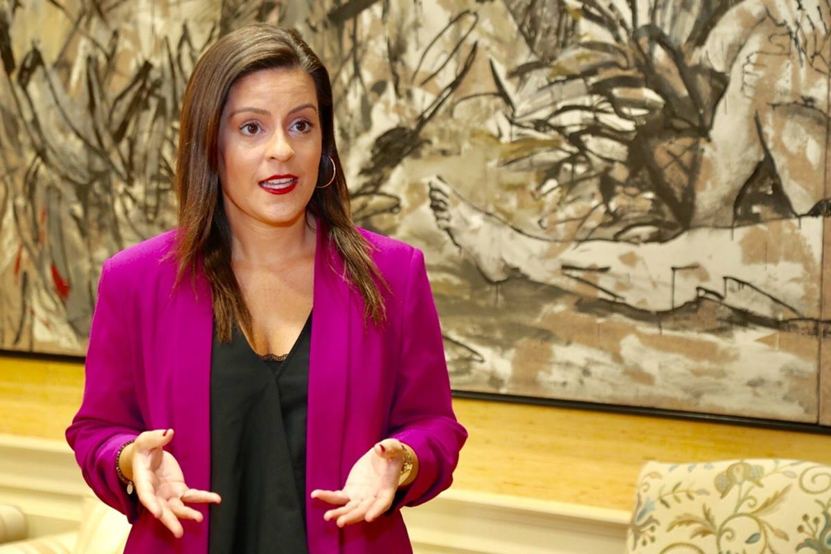 Yaiza Castilla, consejera de Turismo del Gobierno de Canarias. EP