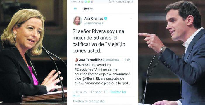 """Oramas: """"Albert Rivera tiene que madurar; no me ofende que me llame vieja"""""""