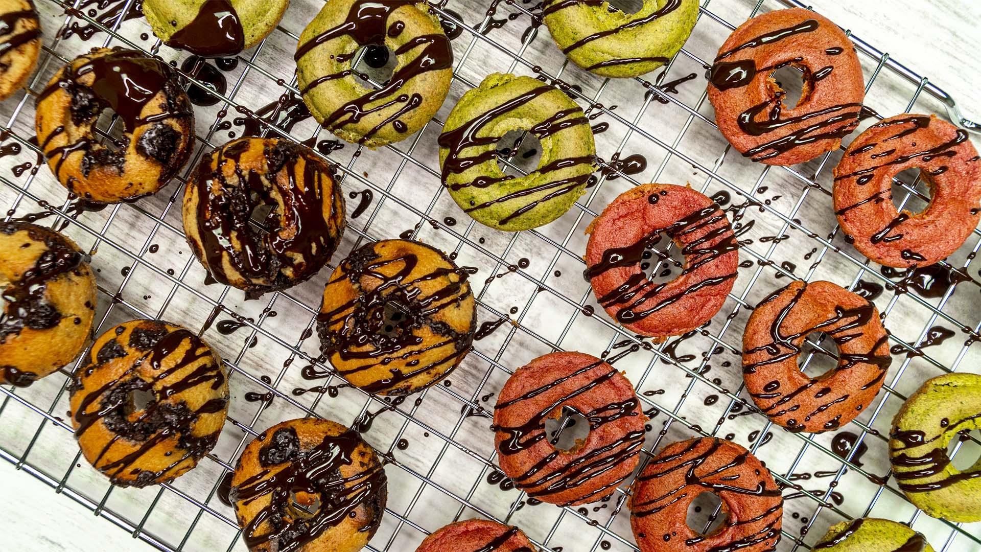 Mini donuts saludables para niños