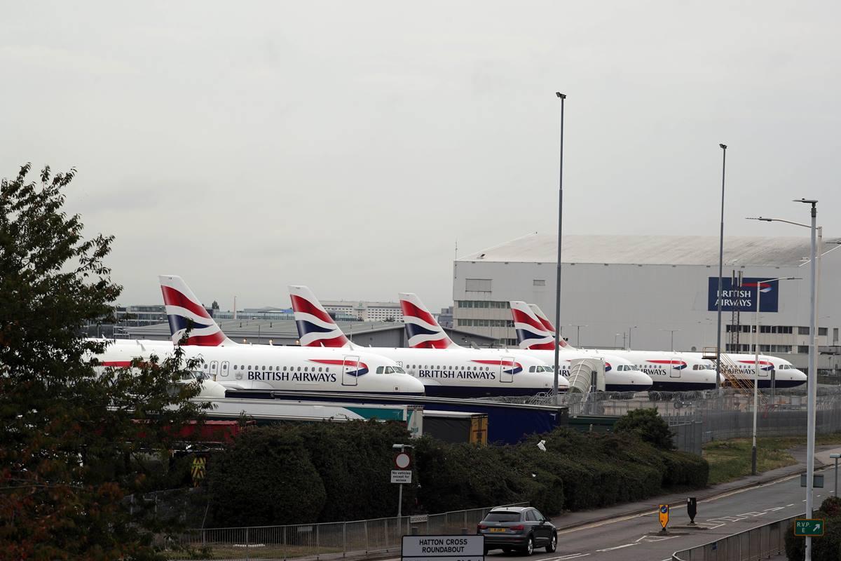 Imagen de varios aviones de British Airways. E.P.