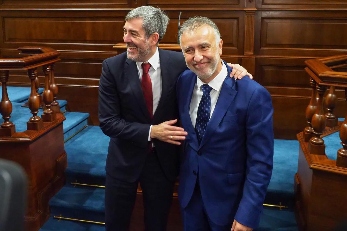 Fernando Clavijo (CC) y Ángel Víctor Torres.