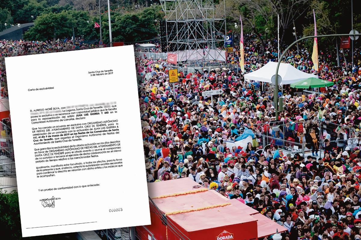 En el expediente municipal no hay constancia de que Radio Club o Alfredo Moré demostrasen que tenían la exclusiva artística sobre Juan Luis Guerra y Orishas. DA