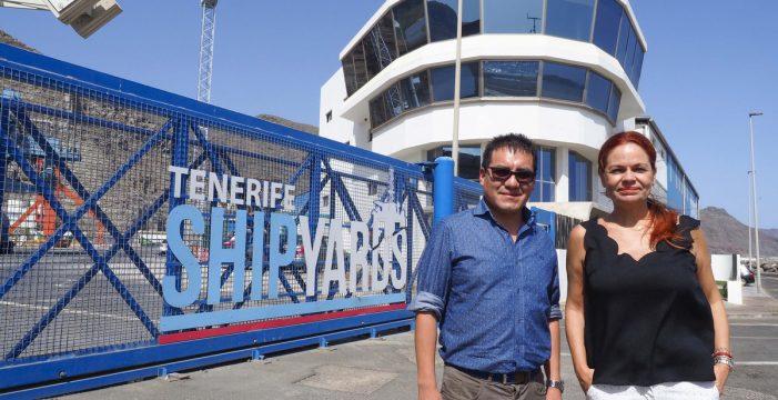 Tenerife Shipyards 'repara' el mayor barco del mundo