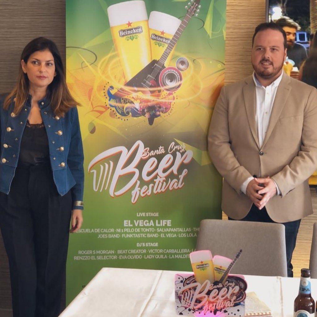 Matilde Zambudio y Andrés Martín, ayer, en la presentación del Beer. DA