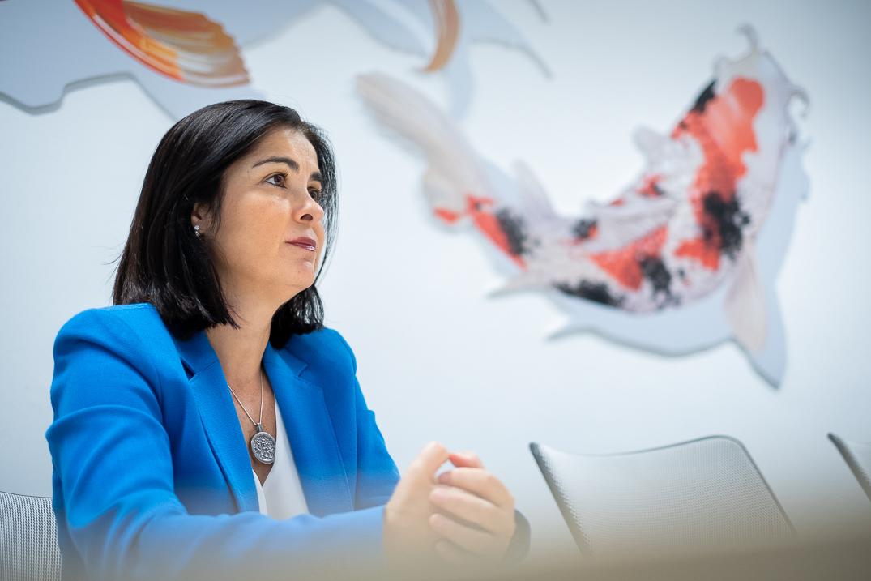 La consejera regional de Economía, Conocimiento y Empleo, Carolina Darias. Fran Pallero