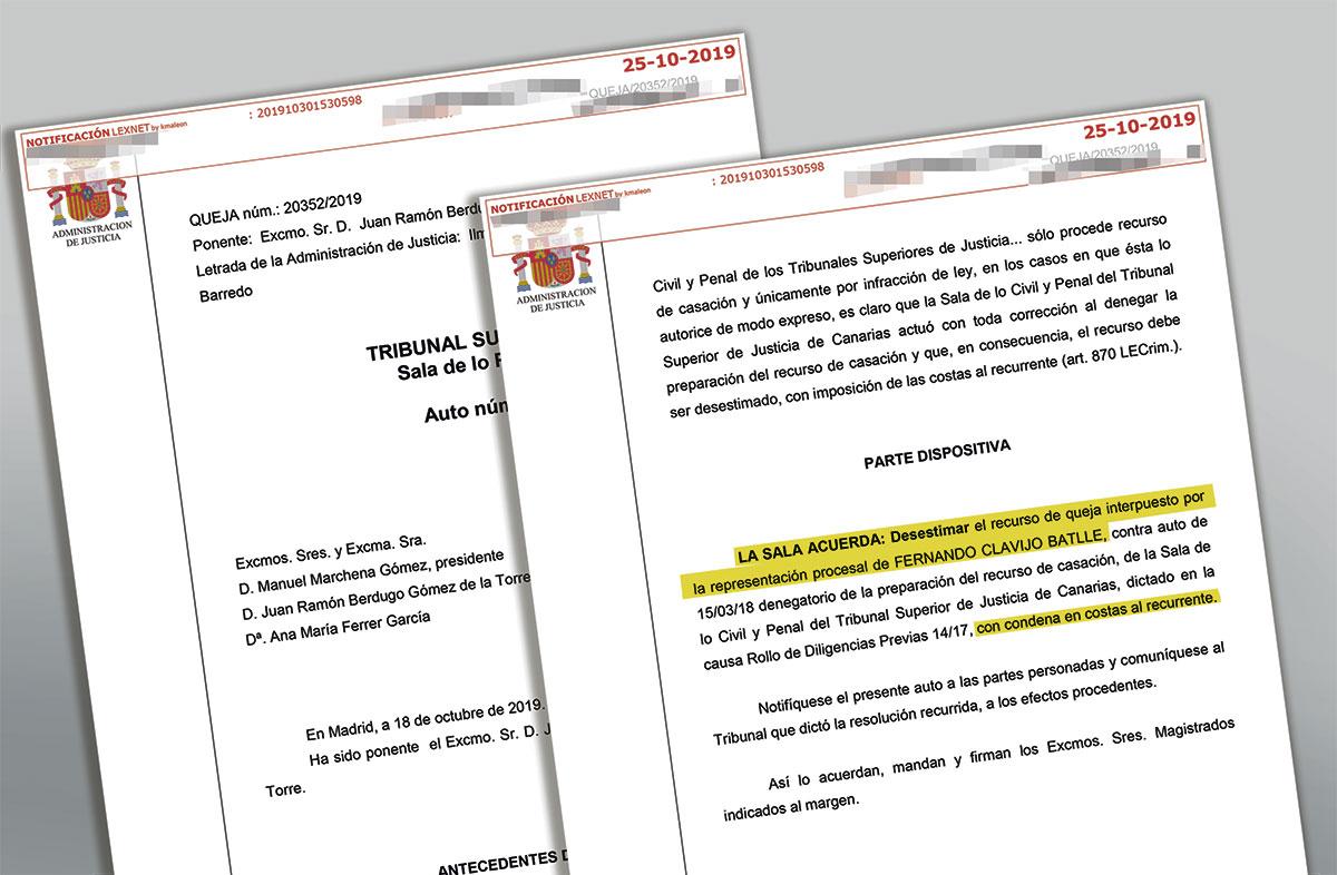 El Supremo asesta otro varapalo procesal a Fernando Clavijo