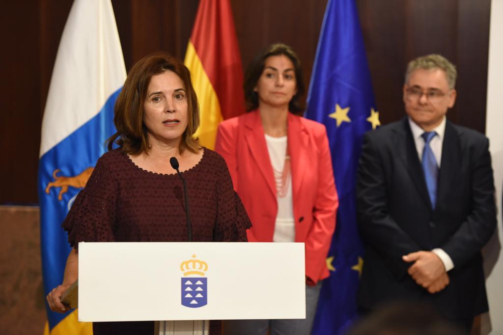 La consejera de Sanidad del Gobierno de Canarias, María Teresa Cruz Oval. DA