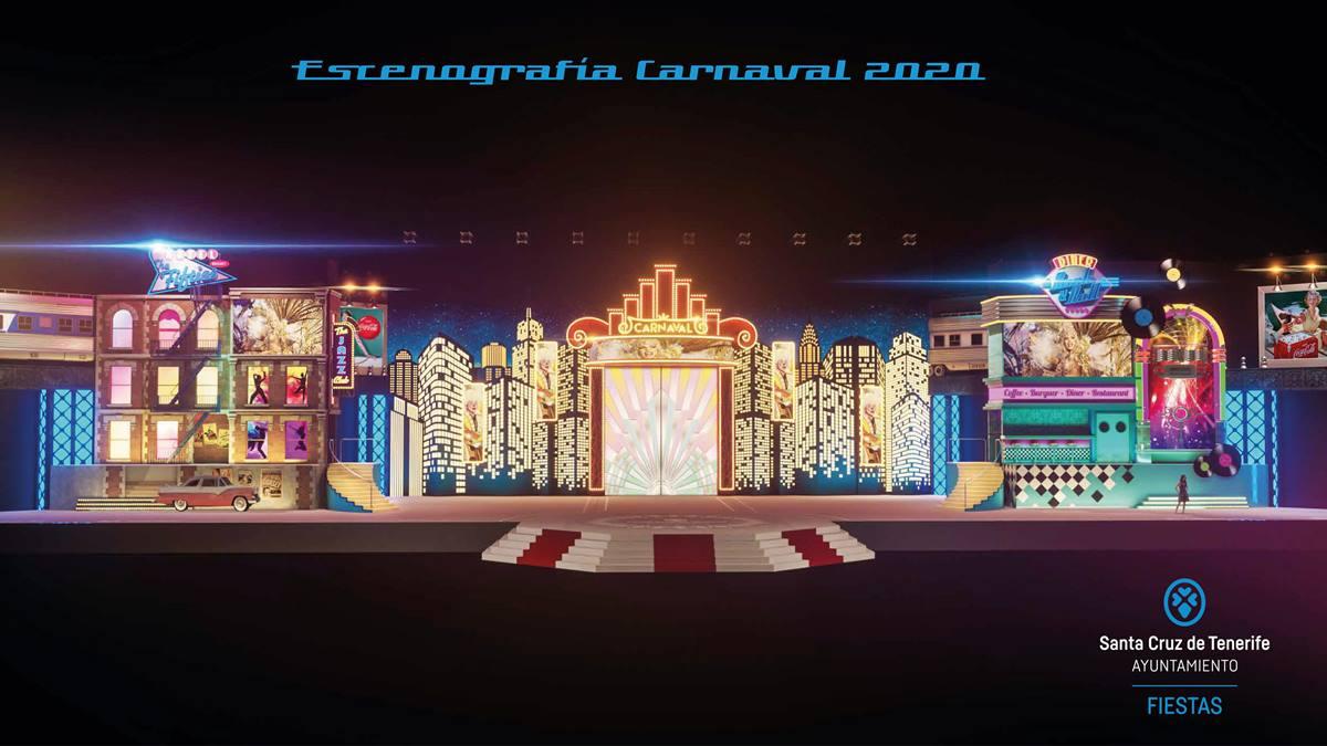 Resultado de imagen de escenario carnaval santa cruz 2020