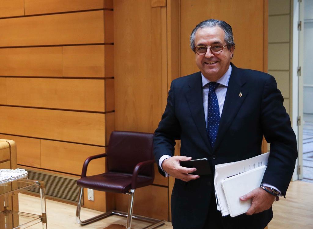 Antonio Alarcó, en el Senado. / DA
