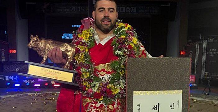 Ayoze Reyes se proclama campeón internacional de lucha Ssireum