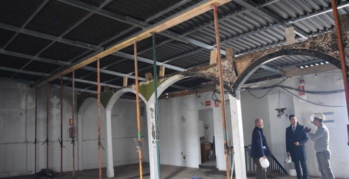 Concluye la instalación de la cubierta provisional del Ateneo de La Laguna; así luce ahora su interior