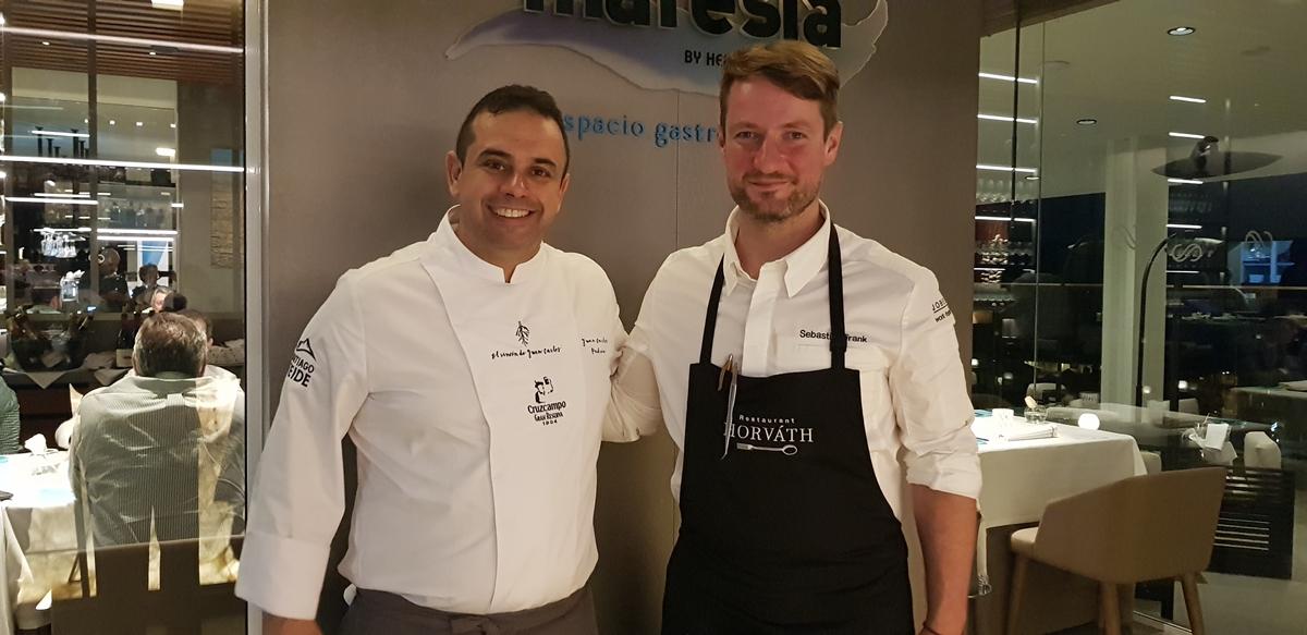 Mano a mano entre los chefs de El Rincón de Juan Carlos y el austríaco Sebastian Frank - Diario de Avisos