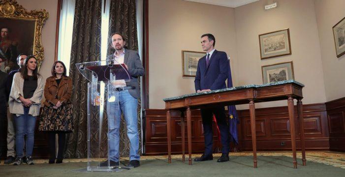 PSOE y Unidas Podemos replican en España el Pacto de Progreso canario