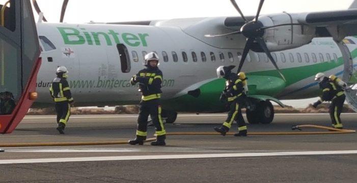 Aterriza de emergencia un vuelo que hacía la ruta Tenerife-Gran Canaria por un problema en un motor