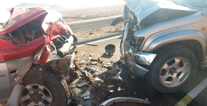 Dos personas heridas en una colisión frontal en Fuerteventura