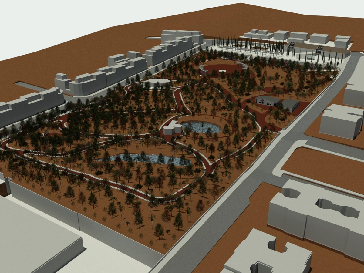 Proyecto del Bosque Productivo, de 32.000 metros cuadrados, inédito en el Sur de Tenerife.  DA