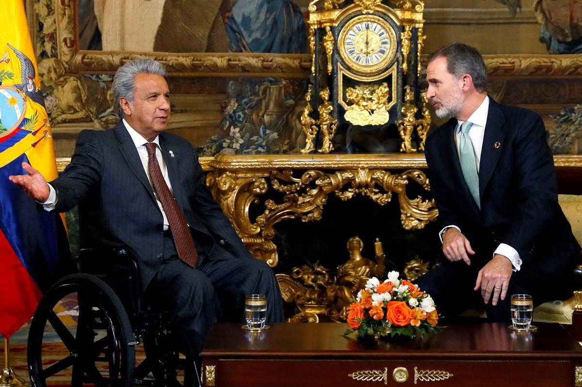 Encuentro de Felipe VI con el presidente de la República Dominicana. EP