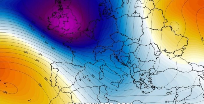 Alerta meteorológica en Europa por la llegada de una nueva borrasca atlántica
