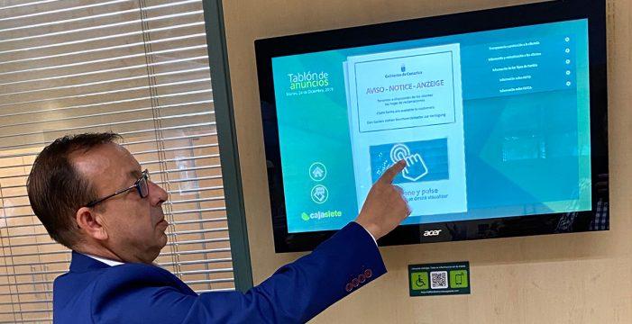 Cajasiete implanta el Tablón de Anuncios Digital en toda su red de oficinas