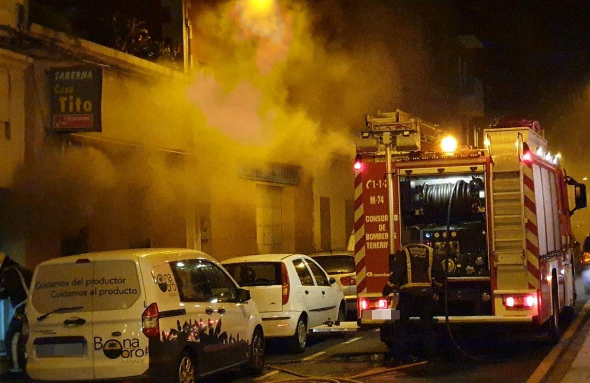 Incendio en una vivienda en el Barrio de La Salud. Policía Local
