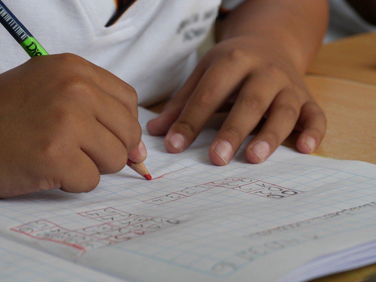 Foto de recurso de un niño escribiendo. Pixabay