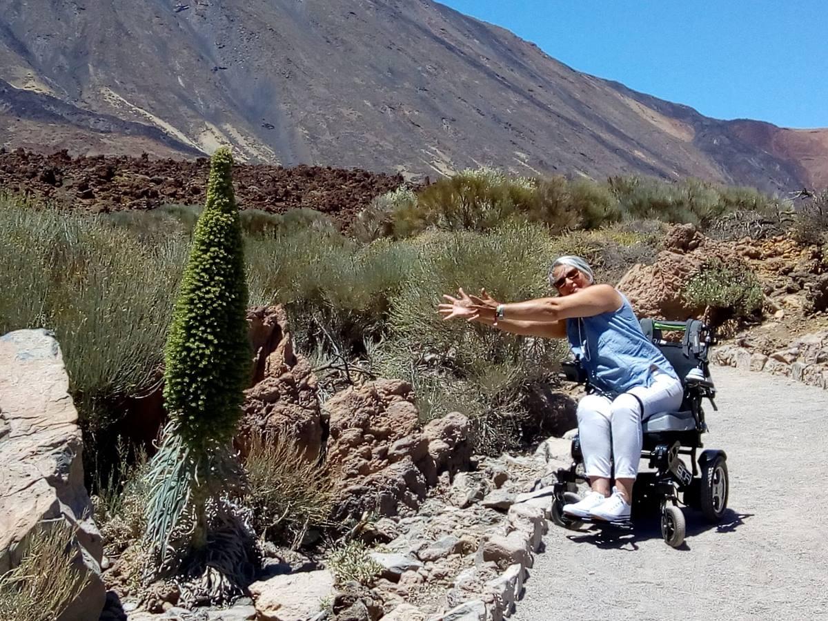 Fermina Gutiérrez, amante de la naturaleza y el senderismo, quiere seguir viviendo la vida intensamente hasta el final. DA