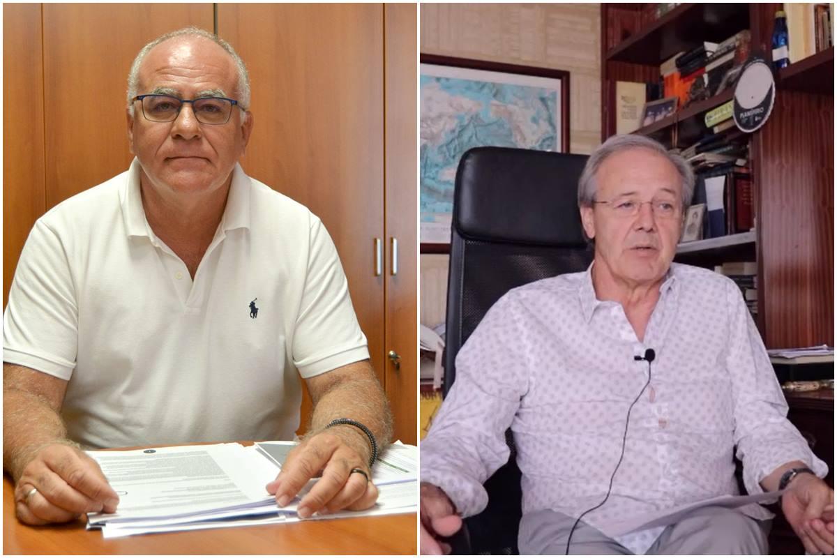 Carlos Cabrera, consejero insular de Aguas del Cabildo y Carlos Soler, ingeniero, DA