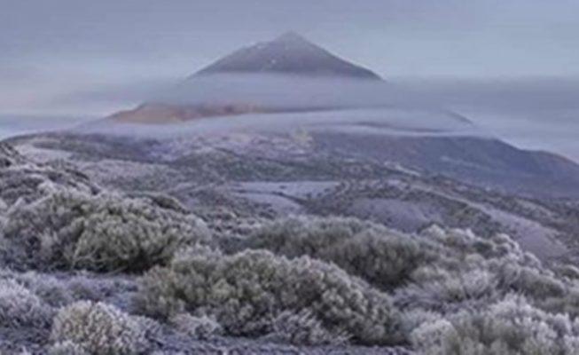 Mañana volverá a helar en el Teide