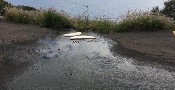 Un vertido de aguas residuales e industriales en El Rosario obliga a cerrar tres playas del litoral