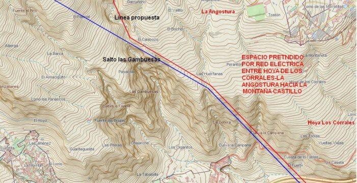 Los vecinos de Barranco Hondo presentan un trazado alternativo al de REE