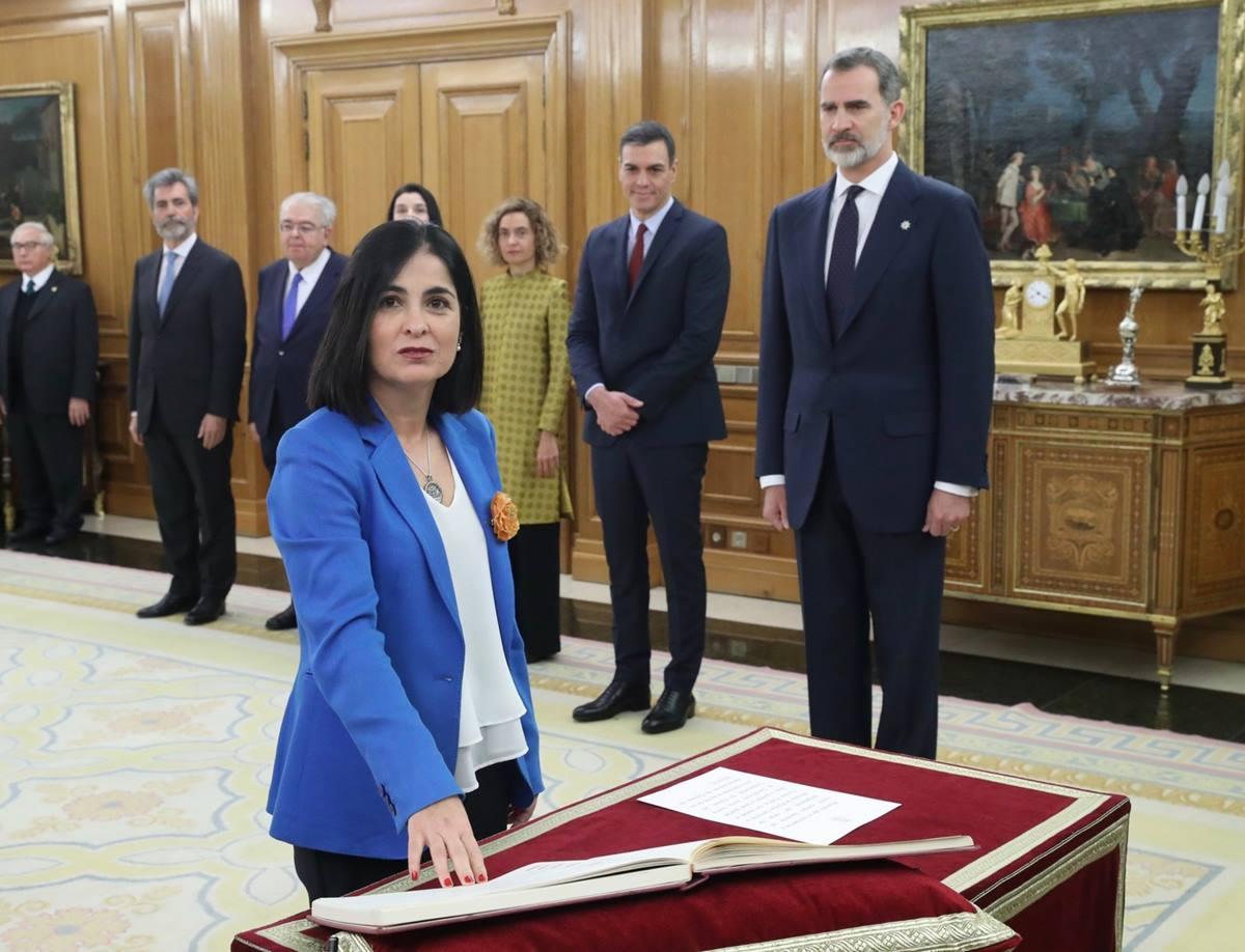 Carolina Darias promete ante Felipe VI el cargo de ministra de Política Territorial y Función Pública. Casa de S.M. el Rey