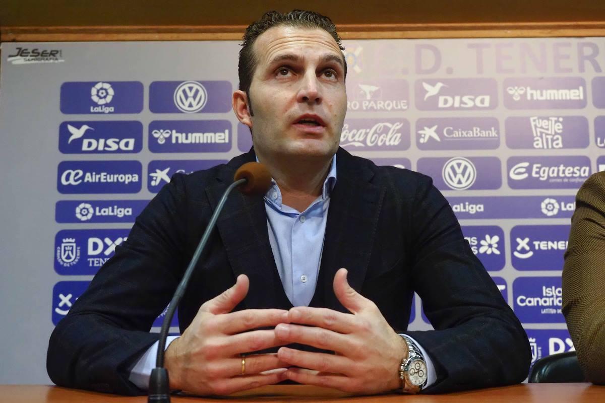 Rubén Baraja repasó la última hora de su equipo de cara al encuentro de mañana frente al Huesca. Sergio Méndez