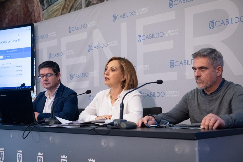 La consejera insular de Hacienda, Berta Pérez, aseguró ayer que las subvenciones nominativas descienden en un 30% en el presente presupuesto. FOTO: FRAN PALLERO