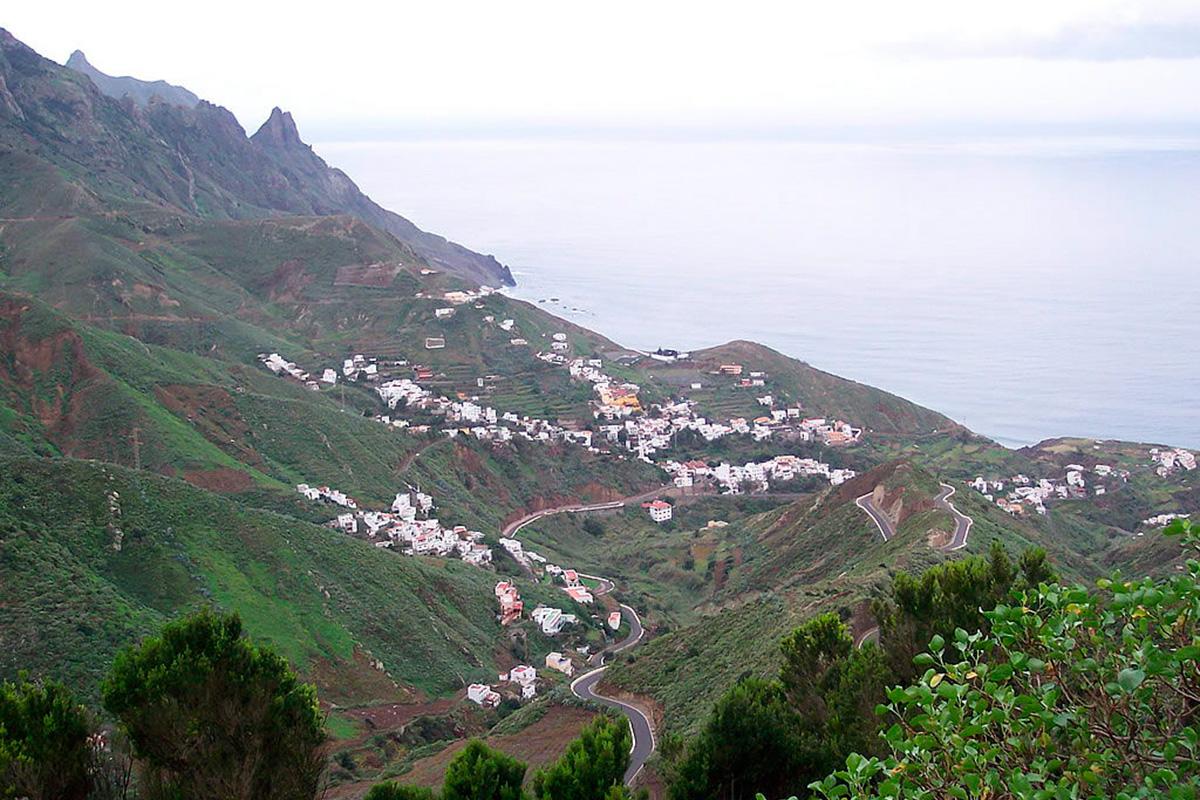 Vista general del pueblo de Taganana