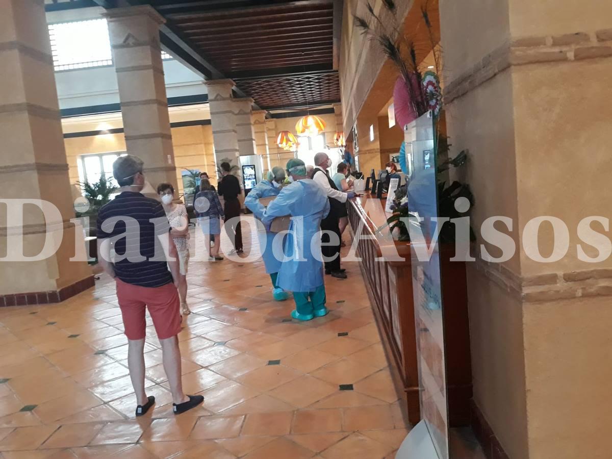Interior del hotel del coronavirus en Adeje. DA