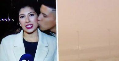 Multa de 2.410 euros para el joven que besó a la periodista de Televisión Canaria