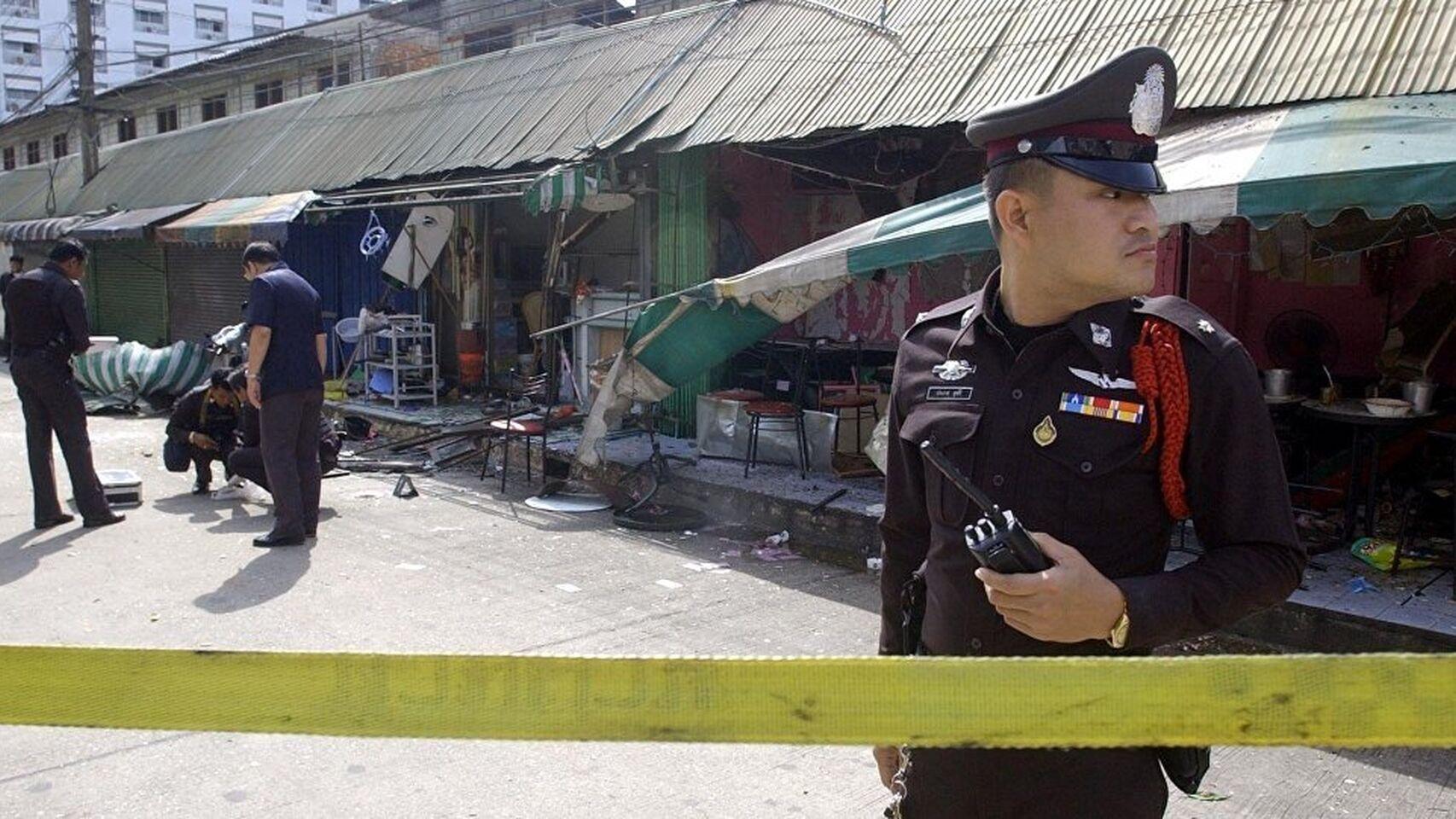 Lugar del tiroteo en Tailandia.